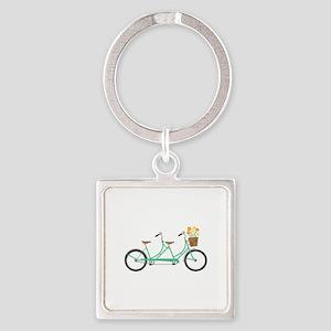 Tandem Bike Keychains