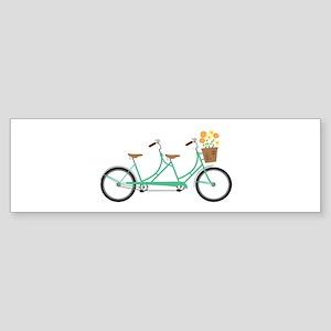 Tandem Bike Bumper Sticker
