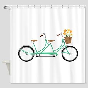 Tandem Bike Shower Curtain