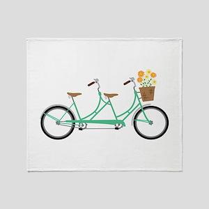 Tandem Bike Throw Blanket