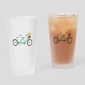 Tandem Bike Drinking Glass