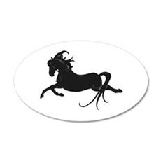 Black Leaping Pony Wall Decal