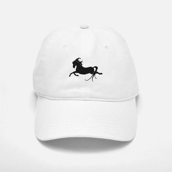 Black Leaping Pony Baseball Baseball Cap