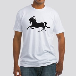 Black Leaping Pony Fitted T-Shirt