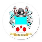 Freiberg Round Car Magnet