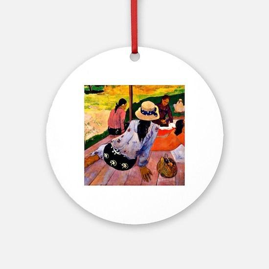Gauguin - Siesta Round Ornament