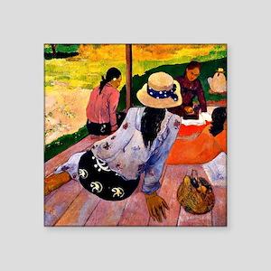 "Gauguin - Siesta Square Sticker 3"" x 3"""