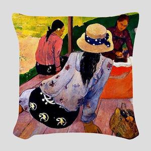 Gauguin - Siesta Woven Throw Pillow