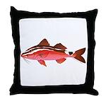 Rosy Goatfish Throw Pillow