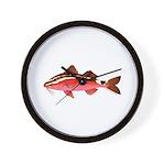 Rosy Goatfish Wall Clock