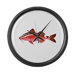 Rosy Goatfish Large Wall Clock
