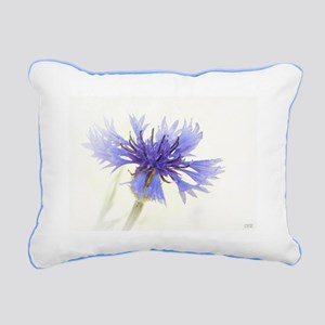 Cornflower Blue Rectangular Canvas Pillow