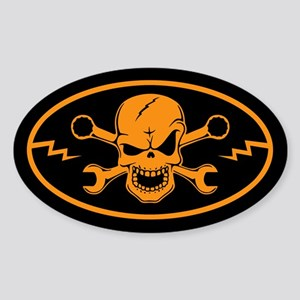 Skull & Wrenches Sticker (Oval)
