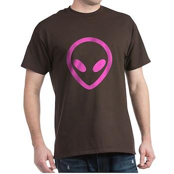 Pink Distressed Alien Dark T-Shirt