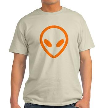 Bright Orange Distressed Alien Light T-Shirt