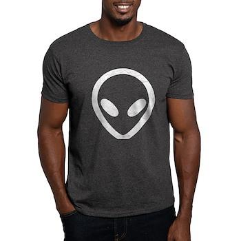 White Distressed Alien Dark T-Shirt