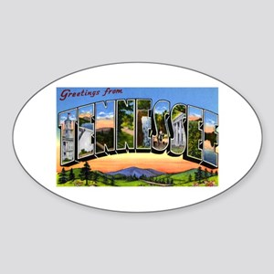 Tennessee Greetings Oval Sticker