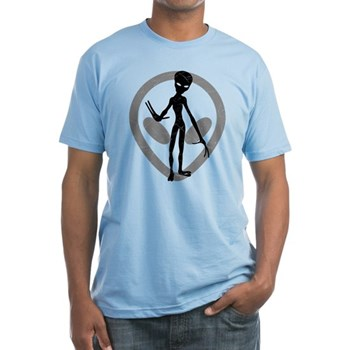 Distressed Alien Fitted T-Shirt