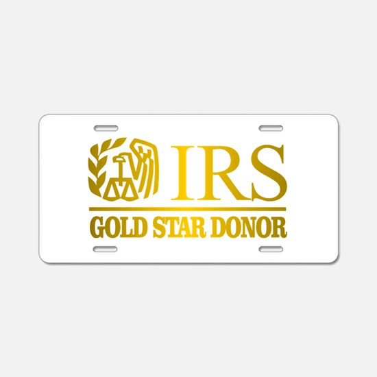 IRS (Gold Star Donor) Aluminum License Plate