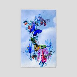 Take Flight! Butterfly Orchid Art 3'X5' Area Rug