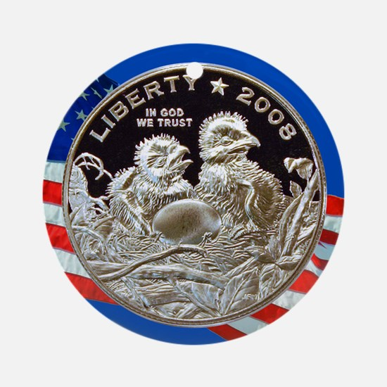 2008 Bald Eagle Half Dollar Ornament (Round)