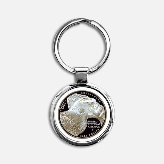 2008 Bald Eagle Half Dollar Round Keychain