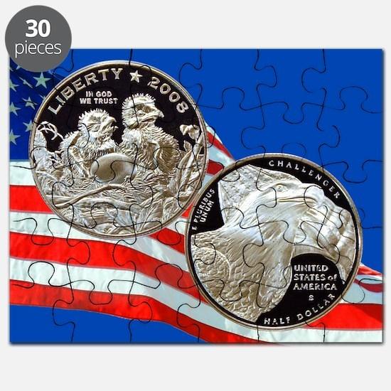 2008 Bald Eagle Half Dollar Puzzle