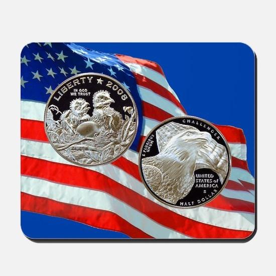 2008 Bald Eagle Half Dollar Mousepad
