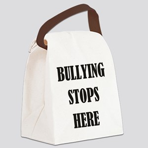 Bullying Stops Here Canvas Lunch Bag