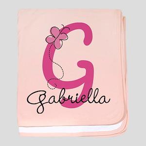 Personalized Monogram Letter G baby blanket