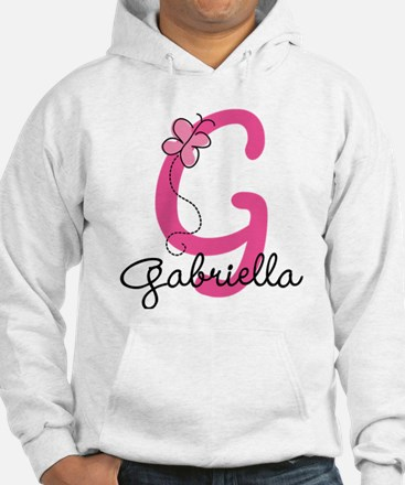 Personalized Monogram Letter G Hoodie
