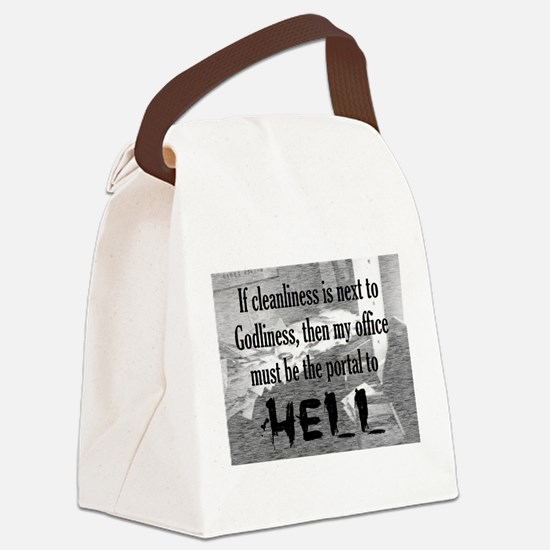 office portal hell :) Canvas Lunch Bag