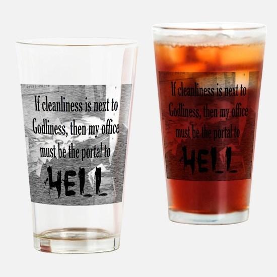 Office Portal Hell :) Drinking Glass