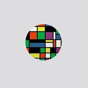 Mondrian Inspired Mini Button