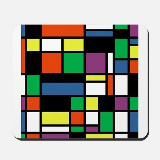 Mondrian Inspired Mousepad