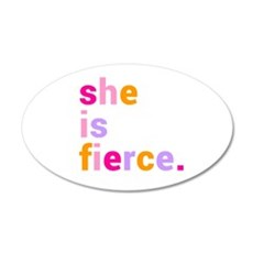 She if Fierce Colors Wall Decal