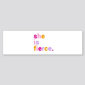 She if Fierce Colors Sticker (Bumper)