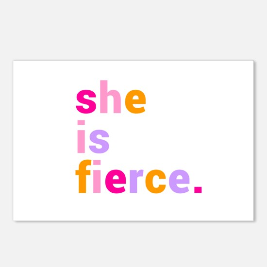 She if Fierce Colors Postcards (Package of 8)