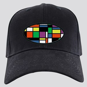 Mondrian Inspired Black Cap