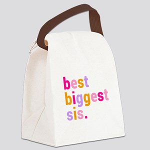 best biggest sis. Canvas Lunch Bag