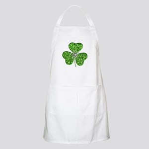 Glitter Shamrock With A Flower Apron