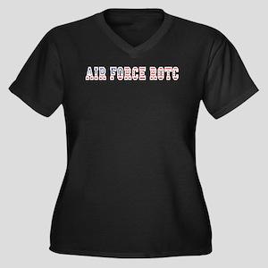 AFROTC Pride Women's Plus Size V-Neck Dark T-Shirt