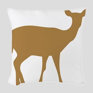 Brown Deer Doe Woven Throw Pillow