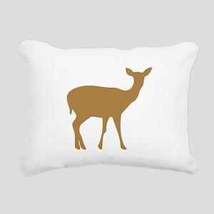 Brown Deer Doe Rectangular Canvas Pillow
