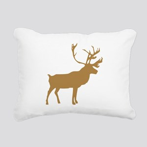 Brown Elk With Antlers Rectangular Canvas Pillow
