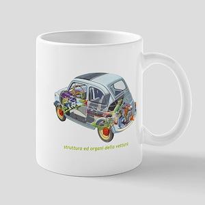 Fiat 500 see-thru Mugs