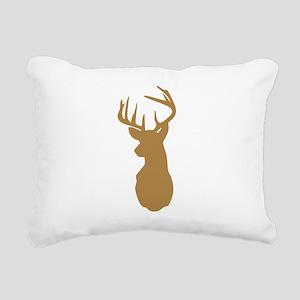 Brown Buck Hunting Trophy Silhouette Rectangular C