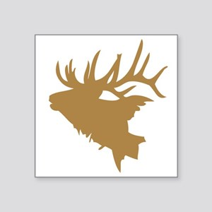 Brown Elk Head Sticker