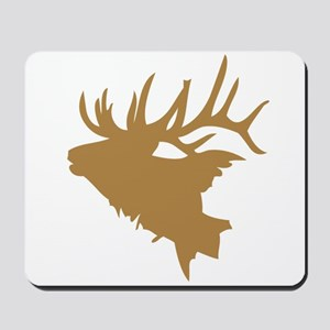 Brown Elk Head Mousepad