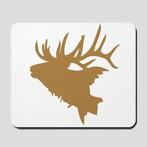 Brown Elk Head Mousepad